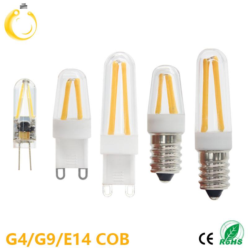 1 PCS G4 LED Bulb G9 LED Bulb E14 Filament Light 220V Glass Bulb Lamp 1.5W 2W 4W Light Lamp(China (Mainland))