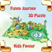 Year Gift Journey Park & Zoo 3D Puzzles Model Children DIY Handmade Toys Education Learning Baby IQ Game Training Present - PIO-TOYS Store store