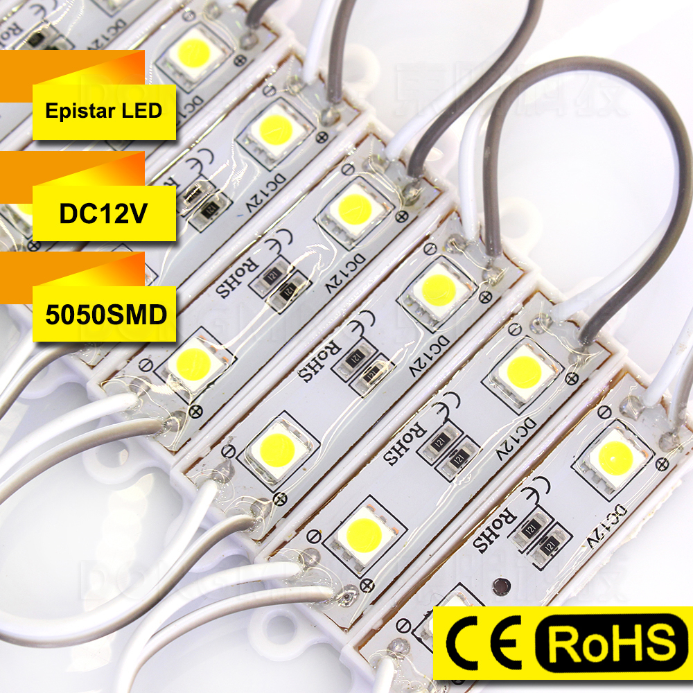 100pcs/Lot led module 5050 Backlight Waterproof IP65 2 LEDs High Bright LED Letter Sign Red/Green/Blue/White led module outdoor(China (Mainland))