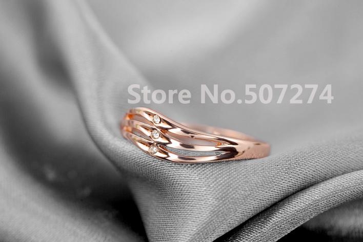 Настоящее Italina Rigant кольца для женщин подлинная австрия кристалл 18 К позолоченные новое распродажа горячие #RG91736R ose