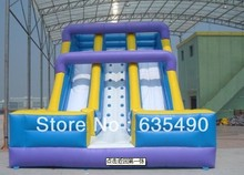 PVC4X8X5m 2013 free shipping commercial grade cheap giant inflatable slide for sale(China (Mainland))