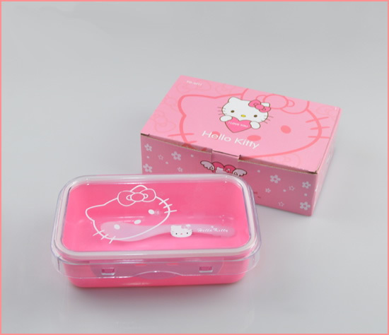 free shipping wholesale cartoon lunch boxes sets 6 sets lot hello kitty bento box with spoon. Black Bedroom Furniture Sets. Home Design Ideas