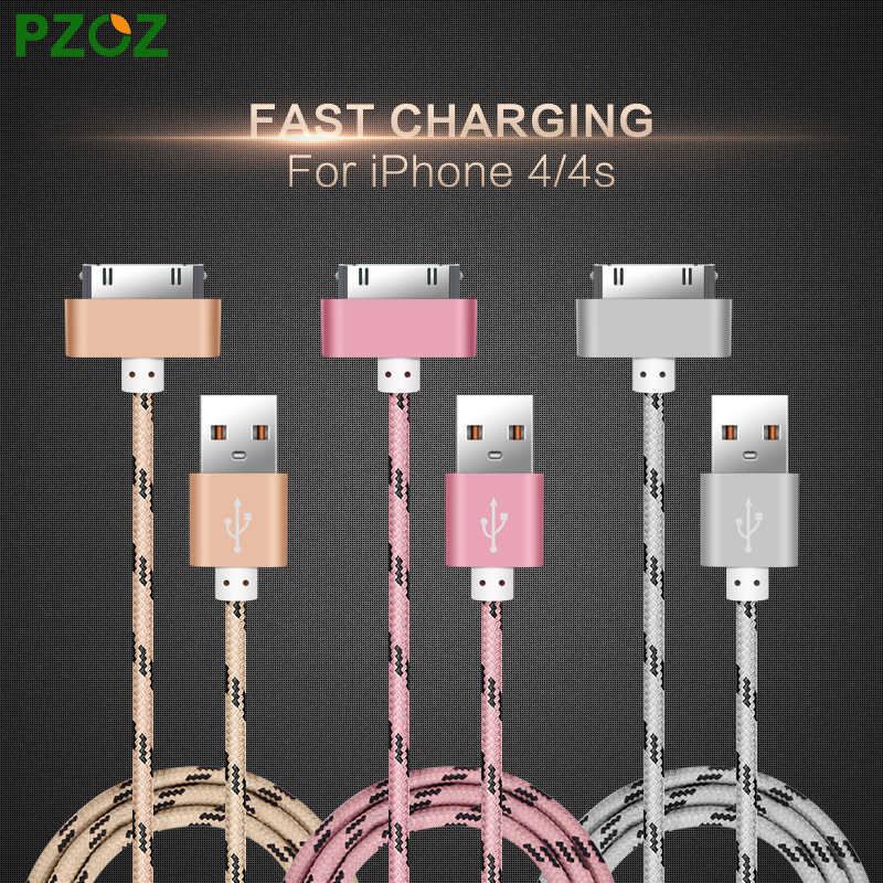 PZOZ For iphone 4 Cable 30 pin Charger Adapter Original USB Cabel Fast Charger For iphone 4s iphone 4 s iphone 3GS iPad 2 3(China (Mainland))