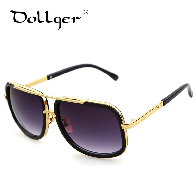 Square Gold Frame Sunglasses : Dollger Vintage BIG SQUARE Sunglasses Gold Frame Men Women ...
