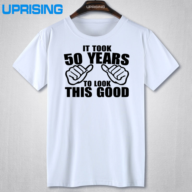 It Took 50 Years To Look This Good T-Shirt - 50th Birthday Funny Gift Idea Fathers Day More Size and Colors(China (Mainland))