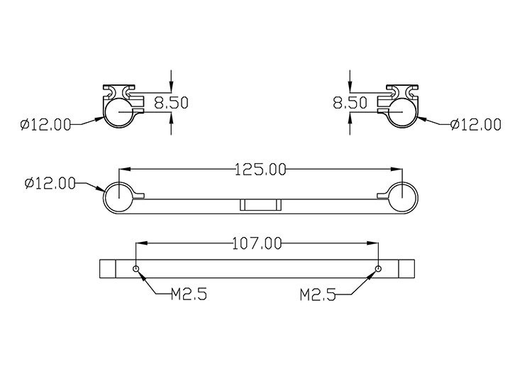DJI S900 Gimbal Mounting Accessories Hanging rods buckle assembly for S900 Hexacopter