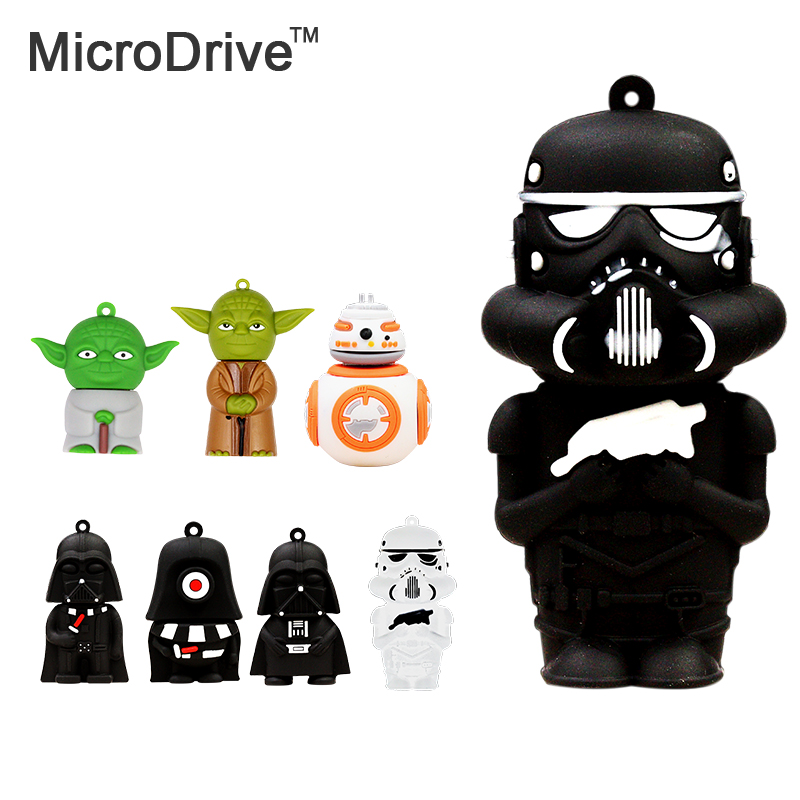 usb flash drive 8GB 16GB 32GB 64GB Wholesale Hot sale Fashion New star war funny robot USB 2.0 Pen Drive pendrive u disk(China (Mainland))