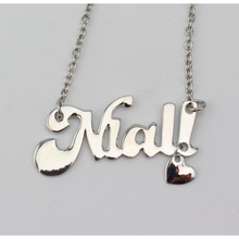 FREE SHIPPING!! Fashion One Direction Alloy Niall Pendant  Necklace One Direction  words/Letter Necklace Wholesale Jewelry !!!!(China (Mainland))