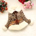 2016 Winter Girls Faux Fur Thick Coat Leopard Flowers Pattern Baby Kids Girls Warm Jacket Outerwear