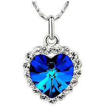 Buy JS N243 Titanic Heart Ocean Necklace Women Nickel Free Classic Crystal Heart Blue Jewelry Daughter Birthday Gift ) for $5.00 in AliExpress store