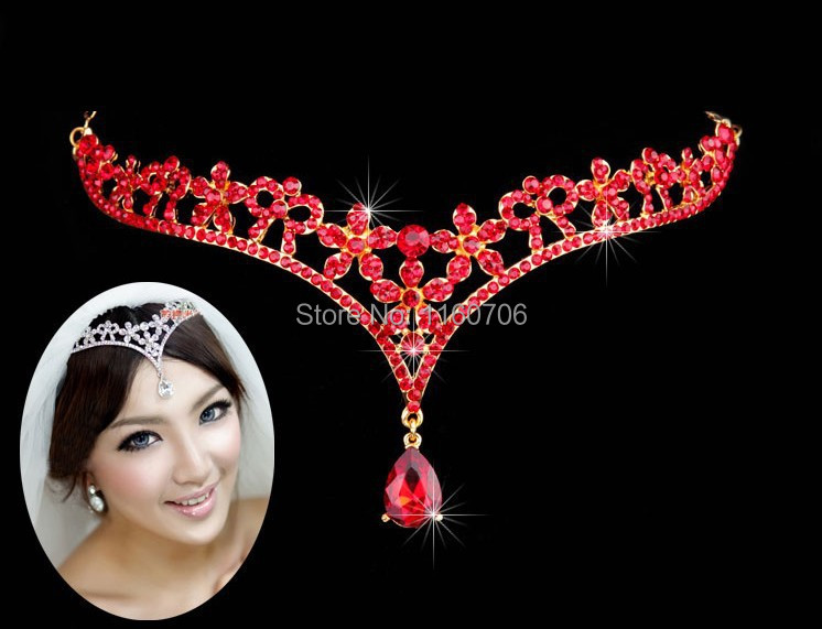 2016 Fashion Silver rhinestone Head Chain Headpiece wedding bridal tiaras jewelry for Wedding Hairbands hair accessories