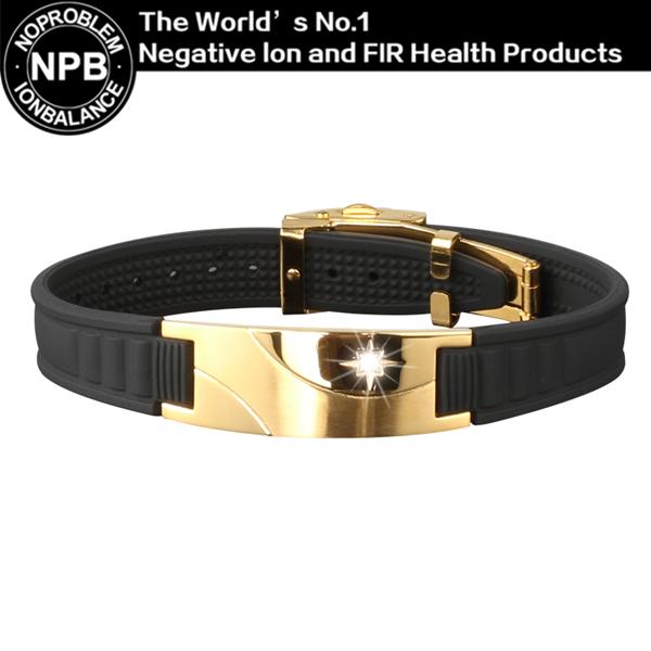 D008 Noproblem germanium ion balance elastic wristband adjustable tourmaline magnetic power therapy charm bracelet(Hong Kong)