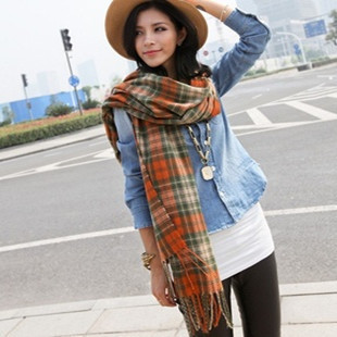 2014 Fashion Plaid 210*60cm Women's Winter Scarfs Cotton Brand Shawls 5 Colors s T135 - Yu BeautyIng Industry Co.,Ltd. store