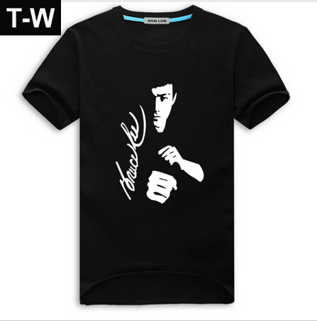 TTM014 Famous Kongfu Figure Costume Bruce Lee t shirt Men Unique Design Short Sleeve Round Neck Vintage Men Sport t-shirts(China (Mainland))