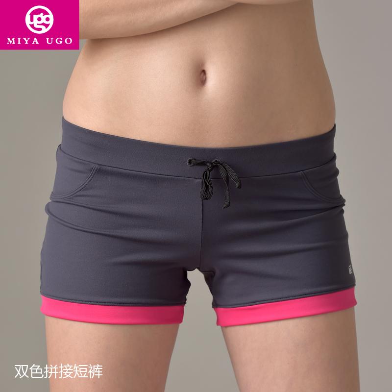 2015 Rushed Girls Cotton El Flashing Roupas Miya Pants, New Professional Yoga Clothing Fitness Pants Authentic Wear Shorts(China (Mainland))