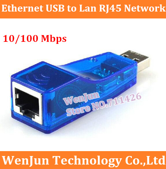 Free Shipping Ethernet USB to Lan RJ45 Network Card Adapter 10/100 Mbps for Laptop PC-Blue 5PCS/LOT(China (Mainland))