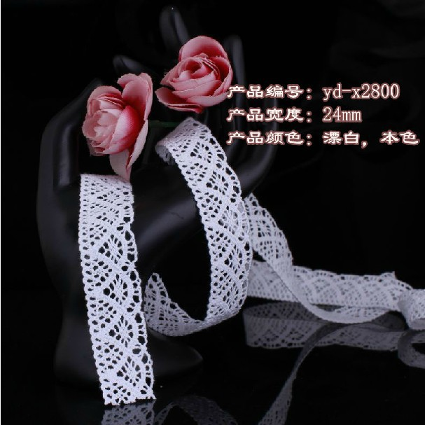Wholesale 2.4 cm cotton lace trim,DIY clothing accessories,cotton lace trim,garment/shoes lace,bedding decoration lace heaven