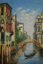 Buy Hand Painted High Quality European Style Canvas Painting Water City Venice Oil Painting Wall Painting Picture for Living Room for $86.87 in AliExpress store
