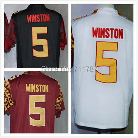 2014-15 New College Football Jerseys Men 5 Jameis Winston Florida State Seminoles FSU Limit Jerseys Embroidery logos(China (Mainland))
