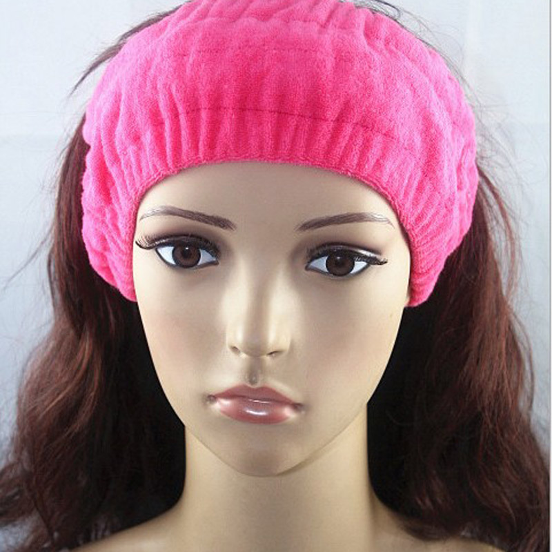 Candy color fashion hair band purified cotton towel material Yoga sports face-wash facial mask headband for women(China (Mainland))