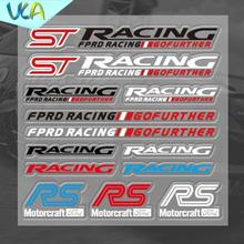 12x12cm ST RS RACING Gofuther Motorcraft Sticker Set Refitting Car Styling Decals DIY Window Exterior Interior Decor Ford - UCA Decoration Co.,LTD. store