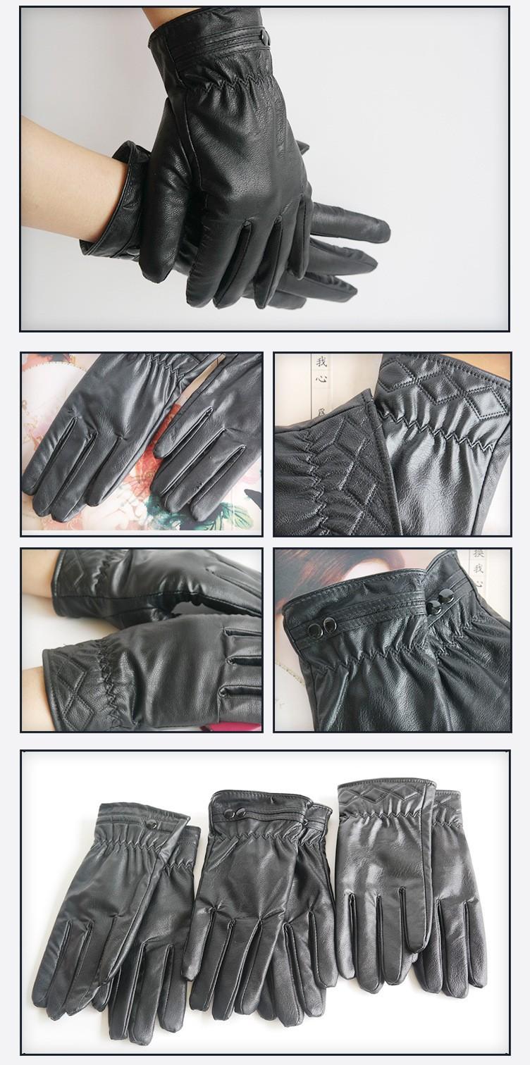 Женские перчатки из кожи Sheepskin & & L