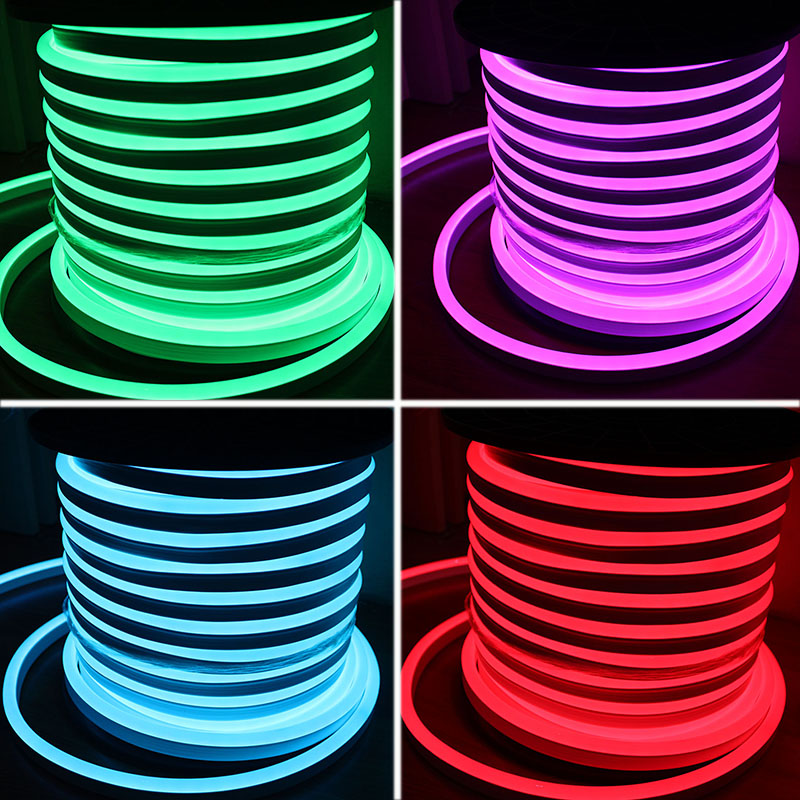 50M 220V RGB LED Neon Flex 5050 SMD 14*26MM Neon Rope Full Color Changing IP67 Decoration Neon Lighting Sign Remote Controller(China (Mainland))