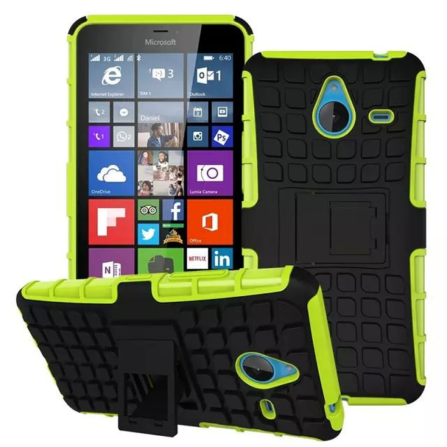 Robot Style Hybrid Kickstand Shockproof Cover Case for Nokia Lumia 640XL(China (Mainland))