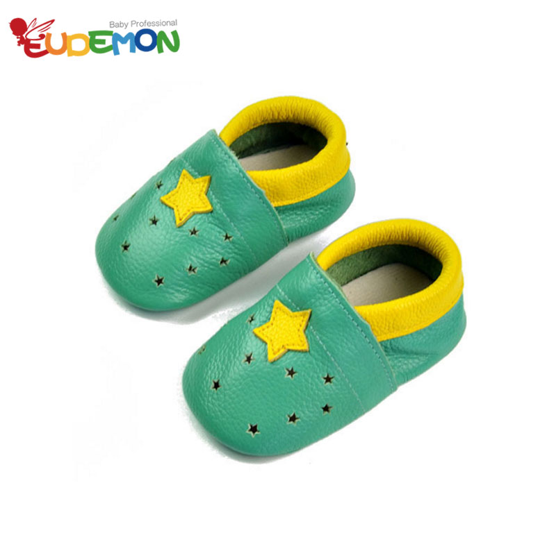 2016 Summer baby shoes genuine leather toddler first walkers soft sole baby mocassins skid infant shoes Star toddler moccasins(China (Mainland))