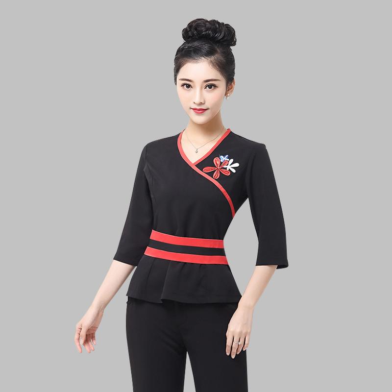 Popular designer spa uniforms buy cheap designer spa for Spa uniform china