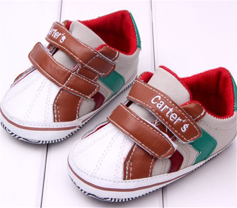 Baby First Walker Shoes Toddler Boy Brand Carters 0-24M Buckle Shoes Soft Stripes Elastic Casual Active Baby Shoes Free Shipping(China (Mainland))
