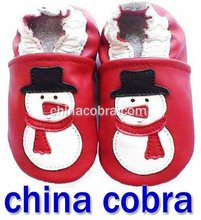 free shipping soft sole leather baby shoes new design(China (Mainland))