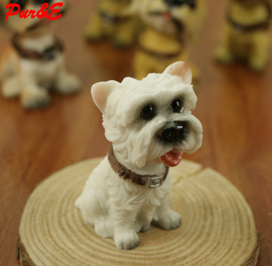 Shook head 6 suits lovely village dog dynamic animal ornaments creative resin crafts home decoration HDC943 - Pur&E Co., Ltd. store