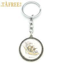 TAFREE Hedgehog Chaveiro fome ele come fruta na imagem Keychain Da Forma redonda de Vidro muito bonito estilo de metal jóias H251(China)