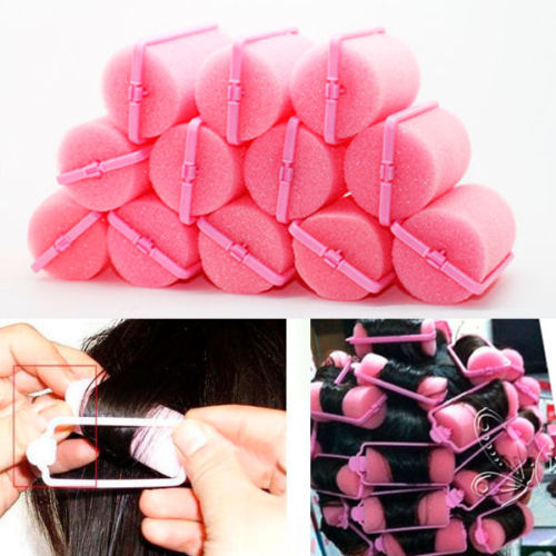 New Fashion Style 12PCS Vintage Magic Sponge Foam Cushion Hair Styling Rollers Curlers Twist Hot(China (Mainland))