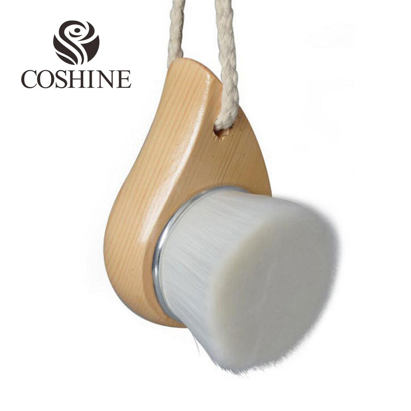 High Quality Micro Mini Fiber Wood Handle Facial Cleaning Brush Professional Bamboo Charcoal Fiber Deeply Cleaning Facial Brush(China (Mainland))