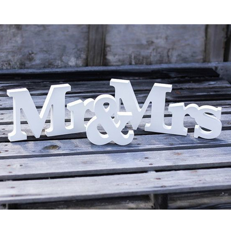 Гаджет  free shipping Mr & Mrs Wedding Sign H8 x W43cm wedding decoration Mr & Mrs letters  None Дом и Сад