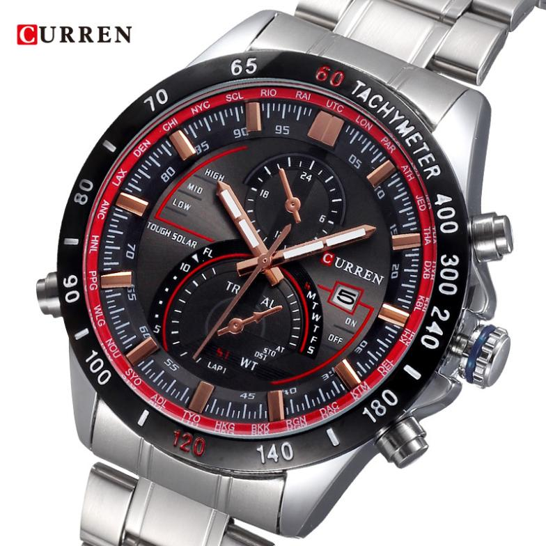 Watch Man Fashion Luxury Brand Curren Relogio Mens Date Light Quartz Watches Casual Reloj Male Stainless Steel Wristwatches g - Hangzhou Magic Trading Co.,Ltd store