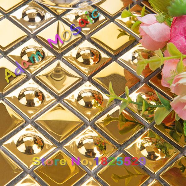 gold ceramic tiles fireplace wall art deco materials golden bathroom border tiles mirror backsplash subway art design(China (Mainland))