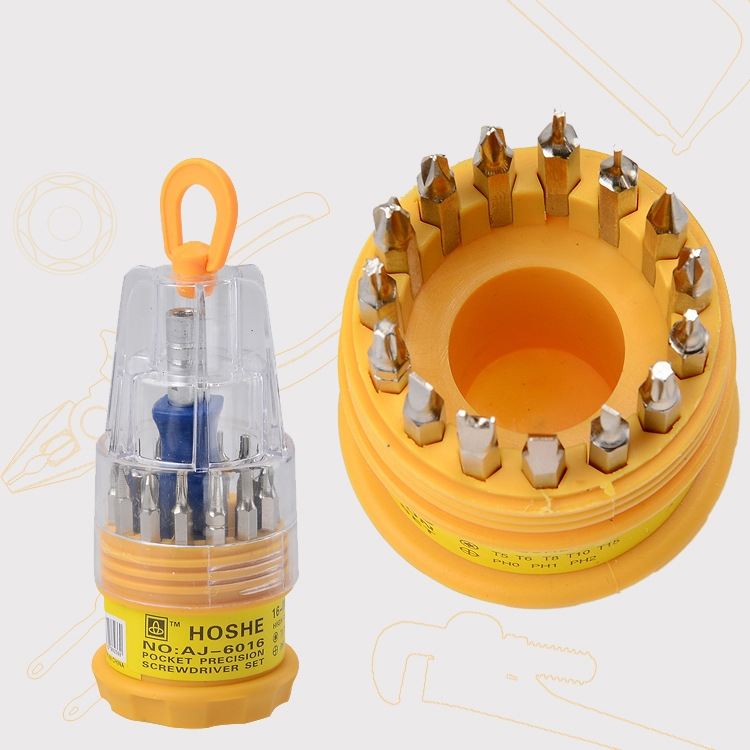 16 in 1 Electronic Precise Screwdriver Manual Screw Driver Tool 16pcs/Set Free shipping(China (Mainland))