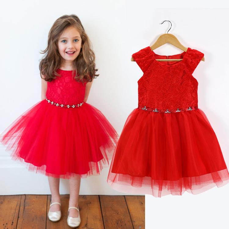 2015 children summer lace dress girls fashion dresses baby child cute dress kids princess clothing child spring vestids YF-088<br><br>Aliexpress