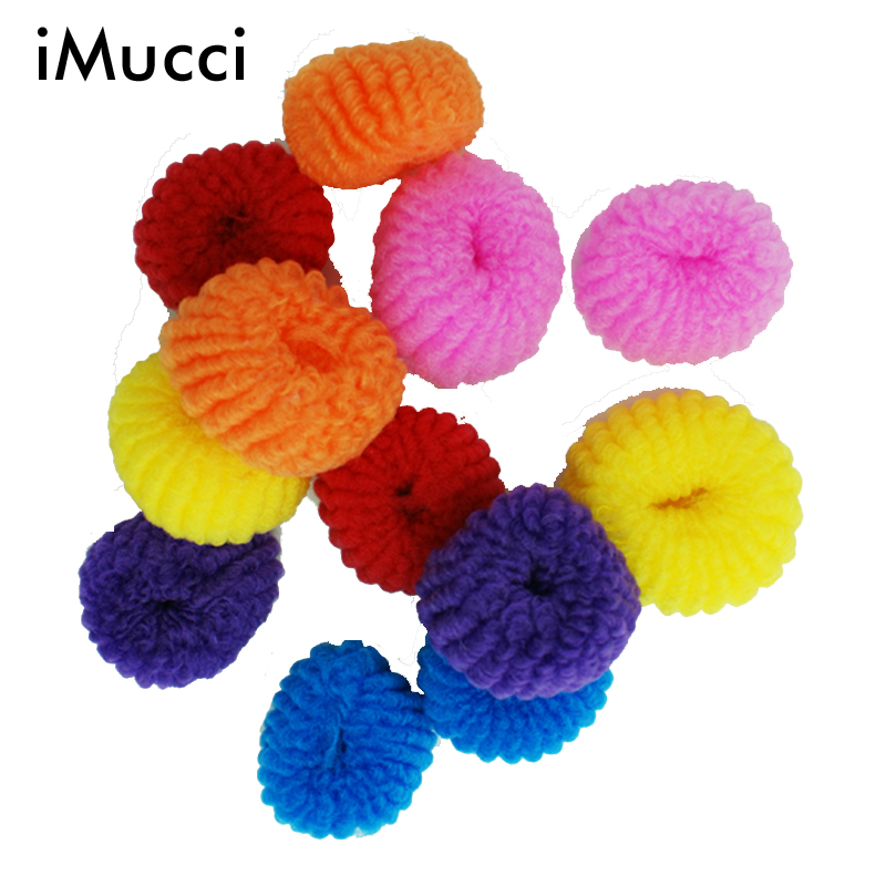 iMucci 50/100 PCS Colorful Girl Rubber Band Candy Colored Kids Hair Holders Elastic Hair Ties Ponytail Headband Scrunchie(China (Mainland))