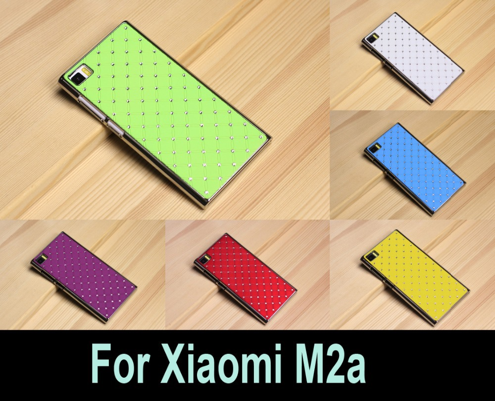 2015 Top Fashion Best Selling For Xiaomi Mi2a M2a 10 Colors Luxury Bling Crystal Diamond Starry Full Star Phone Back Cover Case(China (Mainland))