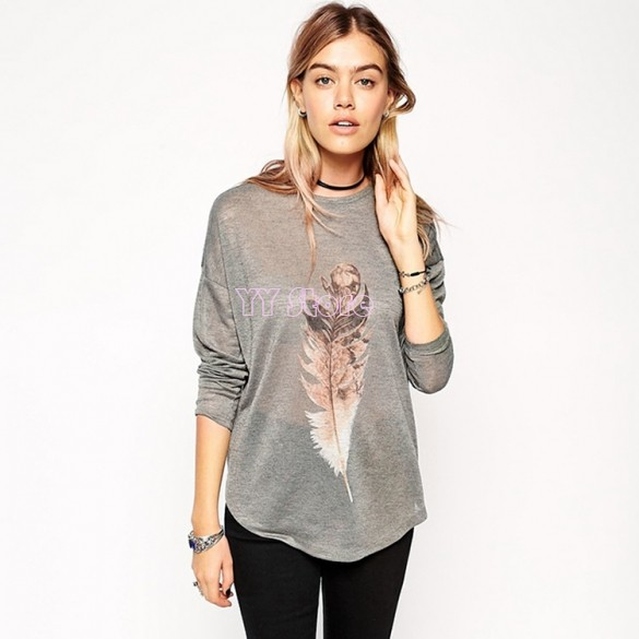 Drop shipping women casual spring summer thin t shirt for Thin long sleeve t shirts