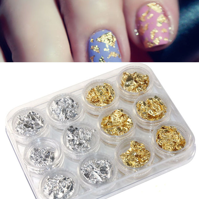 12pc/lot Water Transfer Sticker Nail Art Decorations Flower Paillette Flake Chip Foil Diy Acrylic UV Gel Pager Beauty Style(China (Mainland))