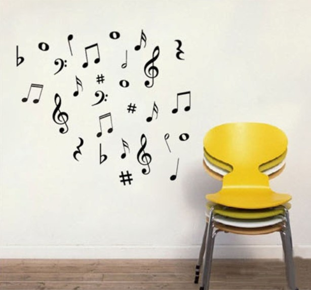 42 Vinyl MUSIC Musical NOTES Variety Pack Wall Say Quote Word Lettering Art Vinyl Sticker Decal Home Decor Words(China (Mainland))