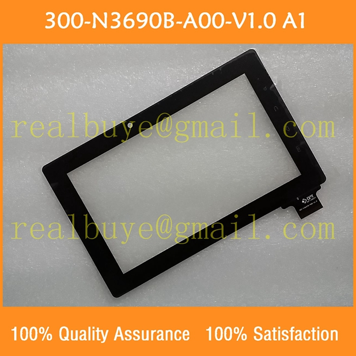 Free shipping 300-N3690B-A00-V1.0 7 inch Freelander PD10 PD20 capacitive touch screen digitizer glass N3690B(China (Mainland))