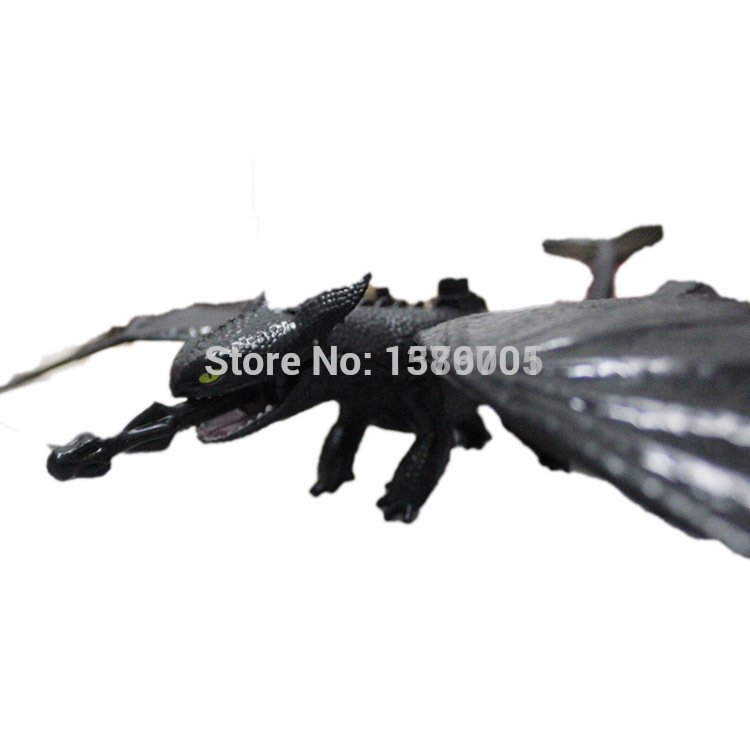 1Pcs/lot How to Train Your Dragon plastic Action Figures Toy Doll NightFury Toothless Dragon Toys Free Shopping(China (Mainland))