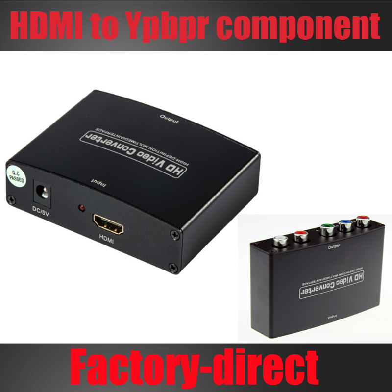Free shipping 1pcs HDMI to Component YPbPr+R/L AV CONVERTER HDMI INPUT AND COMPONENT OUTPUT WITH POWER ADAPTER(China (Mainland))