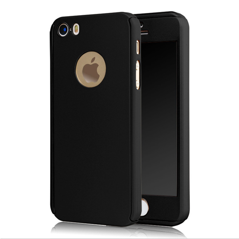 2016 New Complete Coverage of 360 degrees back cover Case For iPhone 5 5S 5SE + Free screen glass(China (Mainland))